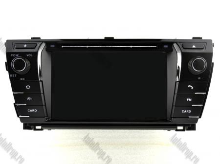 NAVIGATIE TOYOTA Corolla 2014, ANDROID 9, Quadcore|PX30|/ 2GB RAM + 16GB ROM cu DVD, 7 Inch - AD-BGWCOROLLA3P316