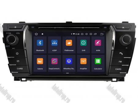 NAVIGATIE TOYOTA Corolla 2014, ANDROID 9, Quadcore|PX30|/ 2GB RAM + 16GB ROM cu DVD, 7 Inch - AD-BGWCOROLLA3P32