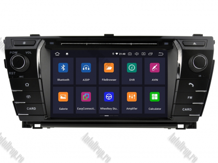 NAVIGATIE TOYOTA Corolla 2014, ANDROID 9, Octacore|PX5|/ 4GB RAM + 64GB ROM cu DVD, 7 Inch - AD-BGWCOROLLA3P52