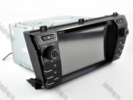 NAVIGATIE TOYOTA Corolla 2014, ANDROID 9, Quadcore|PX30|/ 2GB RAM + 16GB ROM cu DVD, 7 Inch - AD-BGWCOROLLA3P318