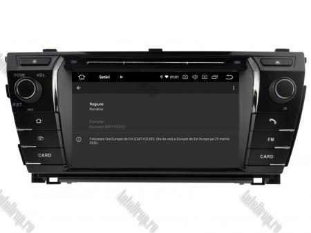 NAVIGATIE TOYOTA Corolla 2014, ANDROID 9, Quadcore|PX30|/ 2GB RAM + 16GB ROM cu DVD, 7 Inch - AD-BGWCOROLLA3P312