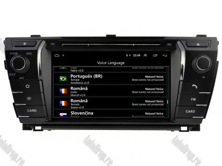 NAVIGATIE TOYOTA Corolla 2014, ANDROID 9, Quadcore|PX30|/ 2GB RAM + 16GB ROM cu DVD, 7 Inch - AD-BGWCOROLLA3P310