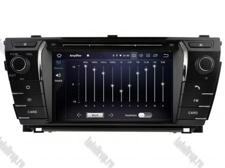 NAVIGATIE TOYOTA Corolla 2014, ANDROID 9, Octacore|PX5|/ 4GB RAM + 64GB ROM cu DVD, 7 Inch - AD-BGWCOROLLA3P57