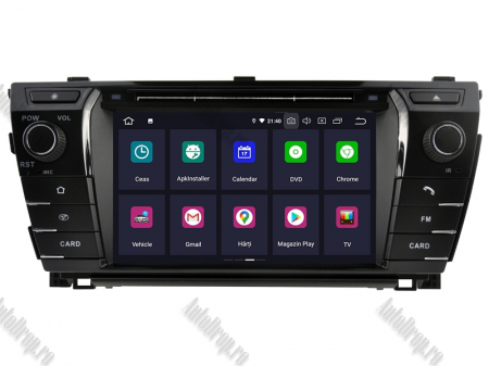 NAVIGATIE TOYOTA Corolla 2014, ANDROID 9, Octacore|PX5|/ 4GB RAM + 64GB ROM cu DVD, 7 Inch - AD-BGWCOROLLA3P51