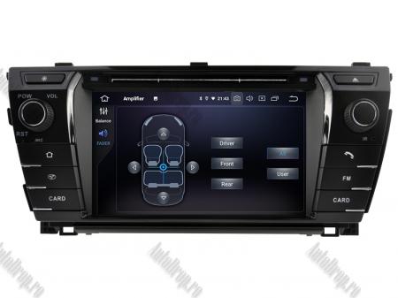 NAVIGATIE TOYOTA Corolla 2014, ANDROID 9, Quadcore|PX30|/ 2GB RAM + 16GB ROM cu DVD, 7 Inch - AD-BGWCOROLLA3P36