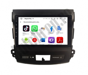 Navigatie Mitstubishi Outlander / Peugeot 4007 / Citroen C-Crosser, Android 9.1, QUADCORE|MTK| / 2GB RAM + 32 ROM, 9 Inch - AD-BGPOUTLANDER9MTK2GB4