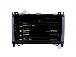 Navigatie Mercedes Benz Sprinter, Viano, Vito, A/B Class, Crafter, Android 9.1, QUADCORE|MTK| / 2GB RAM + 32 ROM, 9 Inch - AD-BGPMBSPR9MTK2GB6