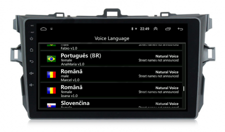Navigatie Toyota Corolla 2007-2013, Android 9.1, QUADCORE MTK  / 2GB RAM + 32 ROM, 9 Inch - AD-BGPCOROLLAMTK2GB14