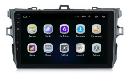 Navigatie Toyota Corolla 2007-2013, Android 9.1, QUADCORE MTK  / 2GB RAM + 32 ROM, 9 Inch - AD-BGPCOROLLAMTK2GB3