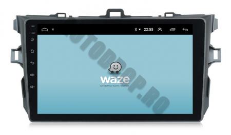 Navigatie Toyota Corolla 2007-2013, Android 9.1, QUADCORE|MTK| / 2GB RAM + 32 ROM, 9 Inch - AD-BGPCOROLLAMTK2GB8