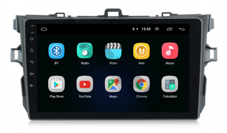 Navigatie Toyota Corolla 2007-2013, Android 9.1, QUADCORE MTK  / 2GB RAM + 32 ROM, 9 Inch - AD-BGPCOROLLAMTK2GB2