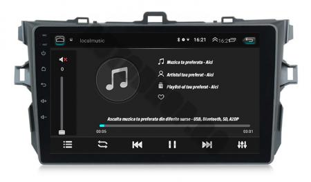 Navigatie Toyota Corolla 2007-2013, Android 9.1, QUADCORE MTK  / 2GB RAM + 32 ROM, 9 Inch - AD-BGPCOROLLAMTK2GB5