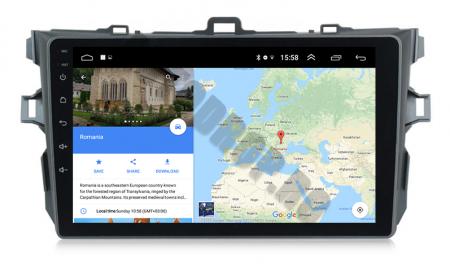 Navigatie Toyota Corolla 2007-2013, Android 9.1, QUADCORE MTK  / 2GB RAM + 32 ROM, 9 Inch - AD-BGPCOROLLAMTK2GB12