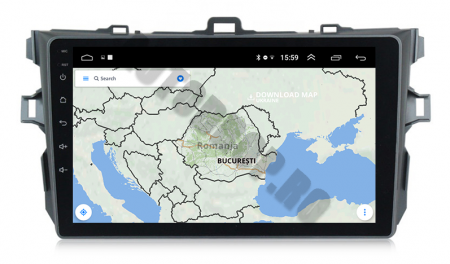 Navigatie Toyota Corolla 2007-2013, Android 9.1, QUADCORE MTK  / 2GB RAM + 32 ROM, 9 Inch - AD-BGPCOROLLAMTK2GB11