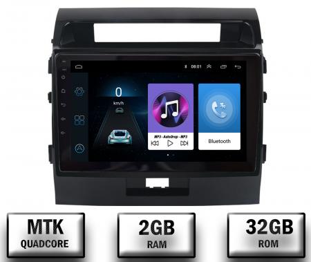 Navigatie Toyota Land Cruiser 200 (2007-2015), Android 9.1, QUADCORE|MTK| / 2GB RAM + 32GB ROM, 9 Inch - AD-BGPLC07MTK2GB0