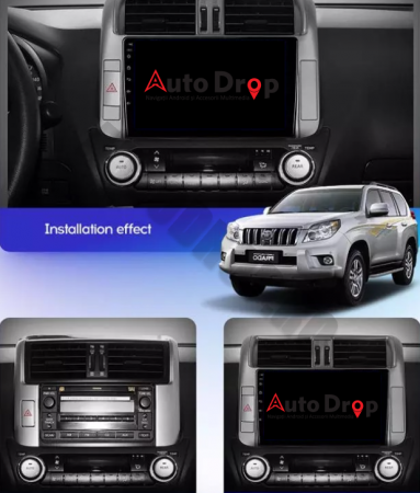 Navigatie Toyota Land Cruiser (2009-2016), Android 9.1, QUADCORE|MTK| / 2GB RAM + 32GB ROM, 9 Inch - AD-BGPLC09MTK2GB17