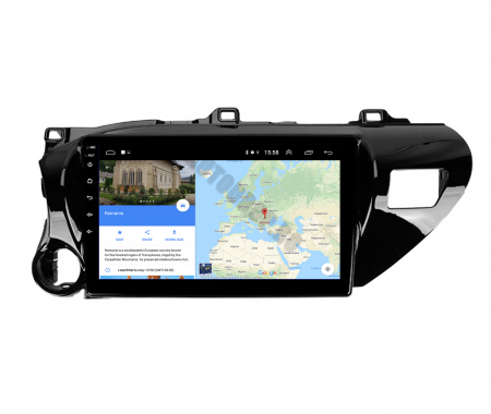 Navigatie Toyota Hilux (2015+), Android 9.1, QUADCORE|MTK| / 1GB RAM + 16 ROM, 9 Inch - AD-BGPHIX16MTK11
