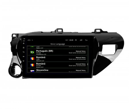 Navigatie Toyota Hilux (2015+), Android 9.1, QUADCORE|MTK| / 1GB RAM + 16 ROM, 9 Inch - AD-BGPHIX16MTK14