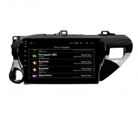 Navigatie Toyota Hilux (2015+), Android 9.1, QUADCORE|MTK| / 2GB RAM + 32GB ROM, 9 Inch - AD-BGPHIX16MTK2GB14