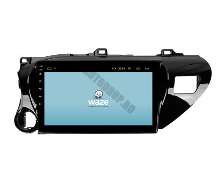 Navigatie Toyota Hilux (2015+), Android 9.1, QUADCORE|MTK| / 1GB RAM + 16 ROM, 9 Inch - AD-BGPHIX16MTK8