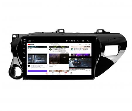 Navigatie Toyota Hilux (2015+), Android 9.1, QUADCORE|MTK| / 2GB RAM + 32GB ROM, 9 Inch - AD-BGPHIX16MTK2GB13