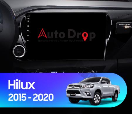 Navigatie Toyota Hilux (2015+), Android 9.1, QUADCORE|MTK| / 1GB RAM + 16 ROM, 9 Inch - AD-BGPHIX16MTK16