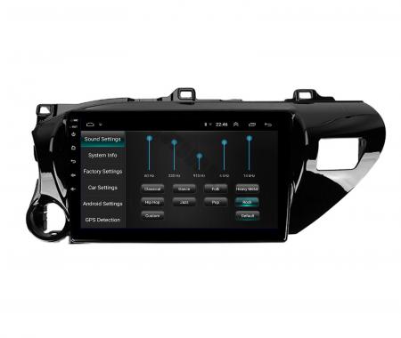 Navigatie Toyota Hilux (2015+), Android 9.1, QUADCORE|MTK| / 2GB RAM + 32GB ROM, 9 Inch - AD-BGPHIX16MTK2GB7