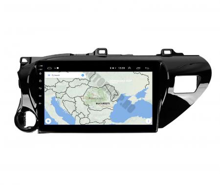 Navigatie Toyota Hilux (2015+), Android 9.1, QUADCORE|MTK| / 2GB RAM + 32GB ROM, 9 Inch - AD-BGPHIX16MTK2GB12