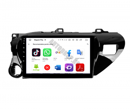 Navigatie Toyota Hilux (2015+), Android 9.1, QUADCORE|MTK| / 1GB RAM + 16 ROM, 9 Inch - AD-BGPHIX16MTK10