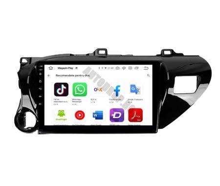 Navigatie Toyota Hilux (2015+), Android 9.1, QUADCORE|MTK| / 2GB RAM + 32GB ROM, 9 Inch - AD-BGPHIX16MTK2GB10