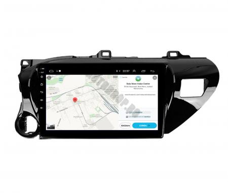 Navigatie Toyota Hilux (2015+), Android 9.1, QUADCORE|MTK| / 2GB RAM + 32GB ROM, 9 Inch - AD-BGPHIX16MTK2GB9