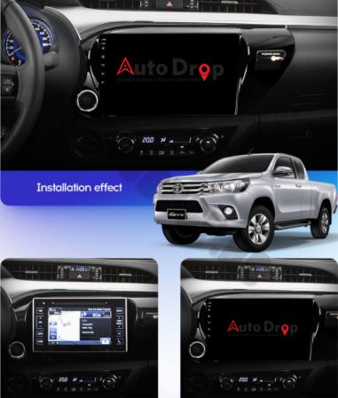 Navigatie Toyota Hilux (2015+), Android 9.1, QUADCORE|MTK| / 1GB RAM + 16 ROM, 9 Inch - AD-BGPHIX16MTK15