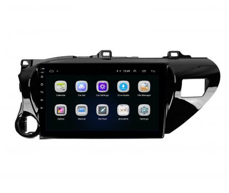Navigatie Toyota Hilux (2015+), Android 9.1, QUADCORE|MTK| / 1GB RAM + 16 ROM, 9 Inch - AD-BGPHIX16MTK3