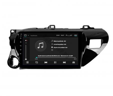 Navigatie Toyota Hilux (2015+), Android 9.1, QUADCORE|MTK| / 1GB RAM + 16 ROM, 9 Inch - AD-BGPHIX16MTK6