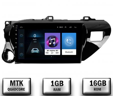 Navigatie Toyota Hilux (2015+), Android 9.1, QUADCORE|MTK| / 1GB RAM + 16 ROM, 9 Inch - AD-BGPHIX16MTK0