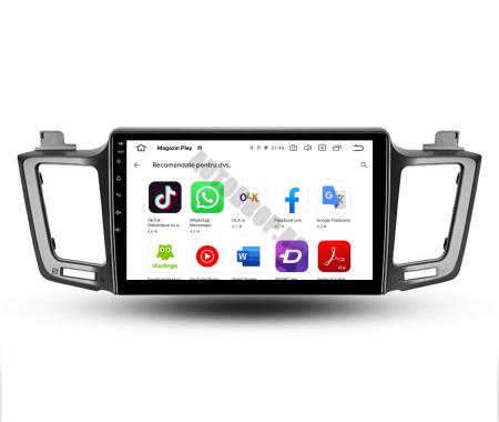 Navigatie Toyota RAV4 (2013-2018), Android 9.1, QUADCORE|MTK| / 1GB RAM + 16 ROM, 9 Inch - AD-BGPRAV413MTK10