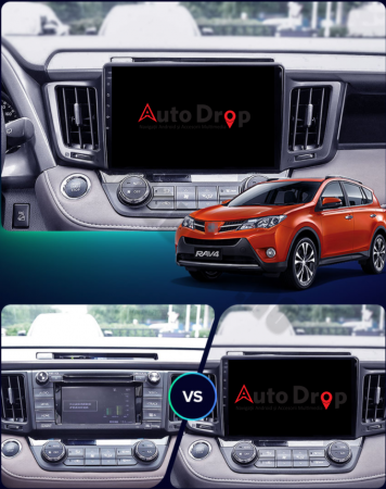 Navigatie Toyota RAV4 (2013-2018), Android 9.1, QUADCORE|MTK| / 1GB RAM + 16 ROM, 9 Inch - AD-BGPRAV413MTK14