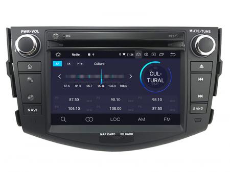 Navigatie Toyota RAV4 (2006-2012), Android 9, Octacore|PX5|/ 4GB RAM + 64GB ROM cu DVD, 7 Inch - AD-BGWRAV7P53
