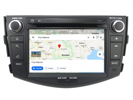 Navigatie Toyota RAV4 (2006-2012), Android 9, Octacore|PX5|/ 4GB RAM + 64GB ROM cu DVD, 7 Inch - AD-BGWRAV7P512