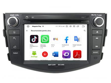 Navigatie Toyota RAV4 (2006-2012), Android 9, Octacore|PX5|/ 4GB RAM + 64GB ROM cu DVD, 7 Inch - AD-BGWRAV7P514