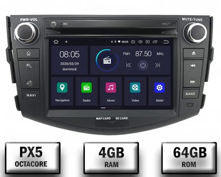 Navigatie Toyota RAV4 (2006-2012), Android 9, Octacore|PX5|/ 4GB RAM + 64GB ROM cu DVD, 7 Inch - AD-BGWRAV7P50
