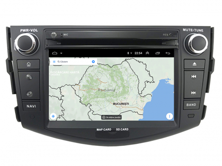 Navigatie Toyota RAV4 (2006-2012), Android 9, Octacore|PX5|/ 4GB RAM + 64GB ROM cu DVD, 7 Inch - AD-BGWRAV7P524