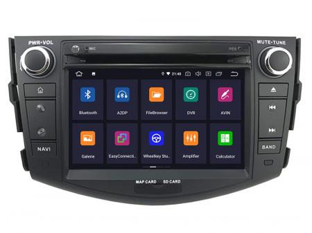 Navigatie Toyota RAV4 (2006-2012), Android 9, Octacore|PX5|/ 4GB RAM + 64GB ROM cu DVD, 7 Inch - AD-BGWRAV7P52