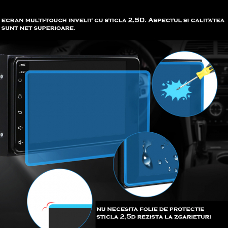 Navigatie Toyota RAV4, Corolla, Hilux, Android 9.1, QUADCORE MTK  / 2GB RAM + 32GB ROM, 7 inch - AD-BGPTOYOTA2DIN2GB12