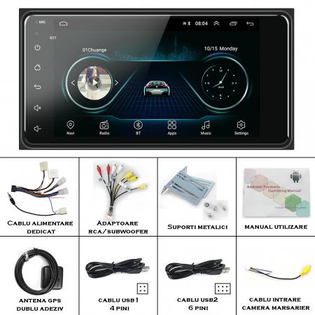 Navigatie Toyota RAV4, Corolla, Hilux, Android 9.1, QUADCORE MTK  / 2GB RAM + 32GB ROM, 7 inch - AD-BGPTOYOTA2DIN2GB10