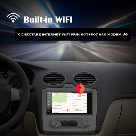 Navigatie Toyota RAV4, Corolla, Hilux, Android 8.1, QUADCORE|MTK| / 1GB RAM, 7 inch - AD-BGPTOYOTA2DIN14