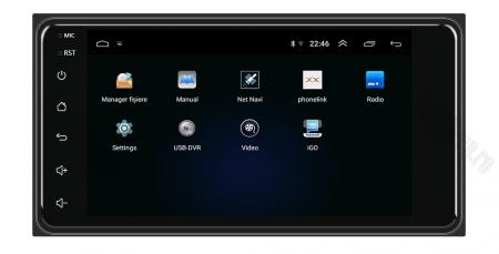Navigatie Toyota RAV4, Corolla, Hilux, Android 9.1, QUADCORE MTK  / 2GB RAM + 32GB ROM, 7 inch - AD-BGPTOYOTA2DIN2GB2