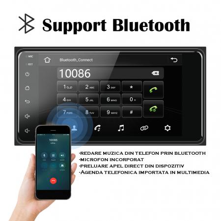 Navigatie Toyota RAV4, Corolla, Hilux, Android 9.1, QUADCORE MTK  / 2GB RAM + 32GB ROM, 7 inch - AD-BGPTOYOTA2DIN2GB13