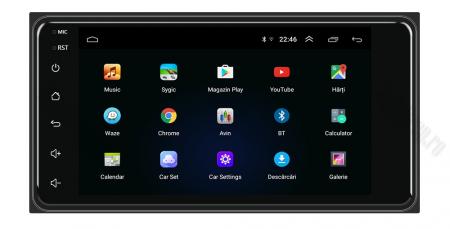 Navigatie Toyota RAV4, Corolla, Hilux, Android 9.1, QUADCORE MTK  / 2GB RAM + 32GB ROM, 7 inch - AD-BGPTOYOTA2DIN2GB1