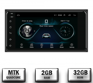 Navigatie Toyota RAV4, Corolla, Hilux, Android 9.1, QUADCORE MTK  / 2GB RAM + 32GB ROM, 7 inch - AD-BGPTOYOTA2DIN2GB0